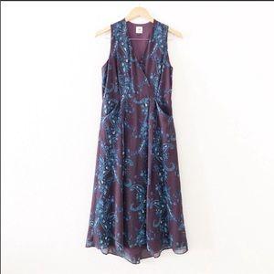 NWOT CAbi Paisley Floral Treasure Midi Dress